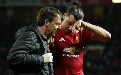 Ibrahimović naj bi se na nogometne zelenice vrnil šele januarja prihodnje leto.