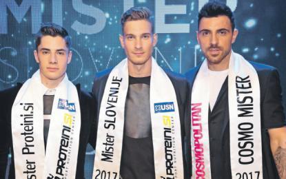 Cvet slovenske moške lepote (z leve): Franko Bajc, Majk Peroša in Gregor Čeglaj