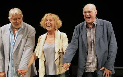 Sanjski igralski trio. Z leve: Boris Cavazza, Milena Zupančič, Radko Polič