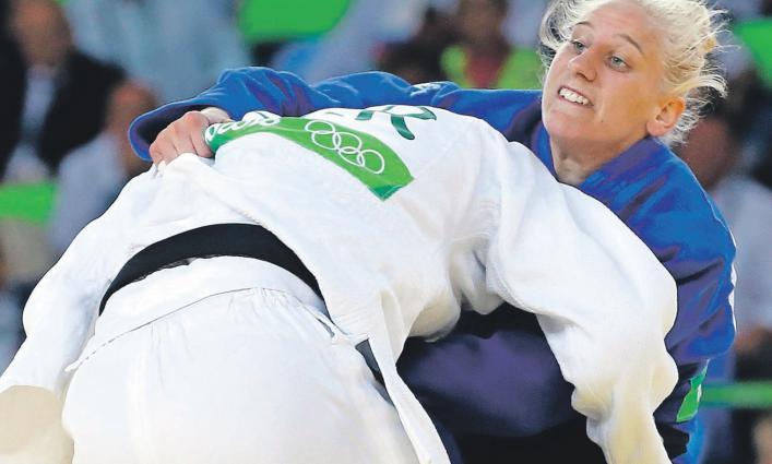 Ana Velenšek se je sinoči v Cancunu prvič spoprijela z elitno konkurenco v kategoriji nad 78 kilogramov
